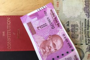 The new Rs 2000 note with the numbers in the Devanagari script. Credit: The Wire
