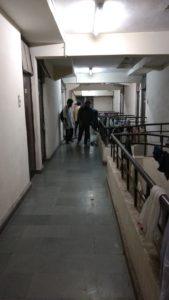 The corridor outside Ahmed's room in Mahi-Mandavi hostel. Credit: Titash Sen