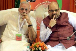 Prime Minister Modi and Amit Shah. Credit: PTI