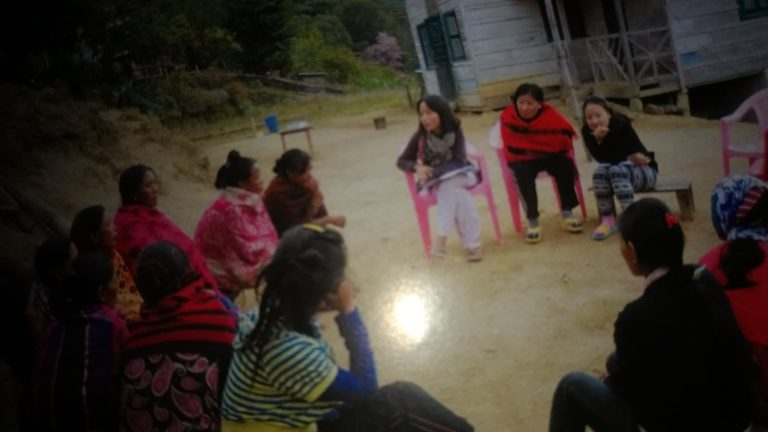 Naga women interacting with research teams of NEN during the study. Photo from the report. Credit: Sangeeta Barooah Pisharoty