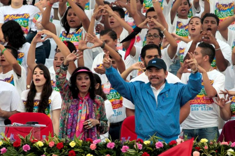 Nicaragua's President Daniel Ortega and first lady and vice president-elect Rosario Murillo. Credit: Reuters