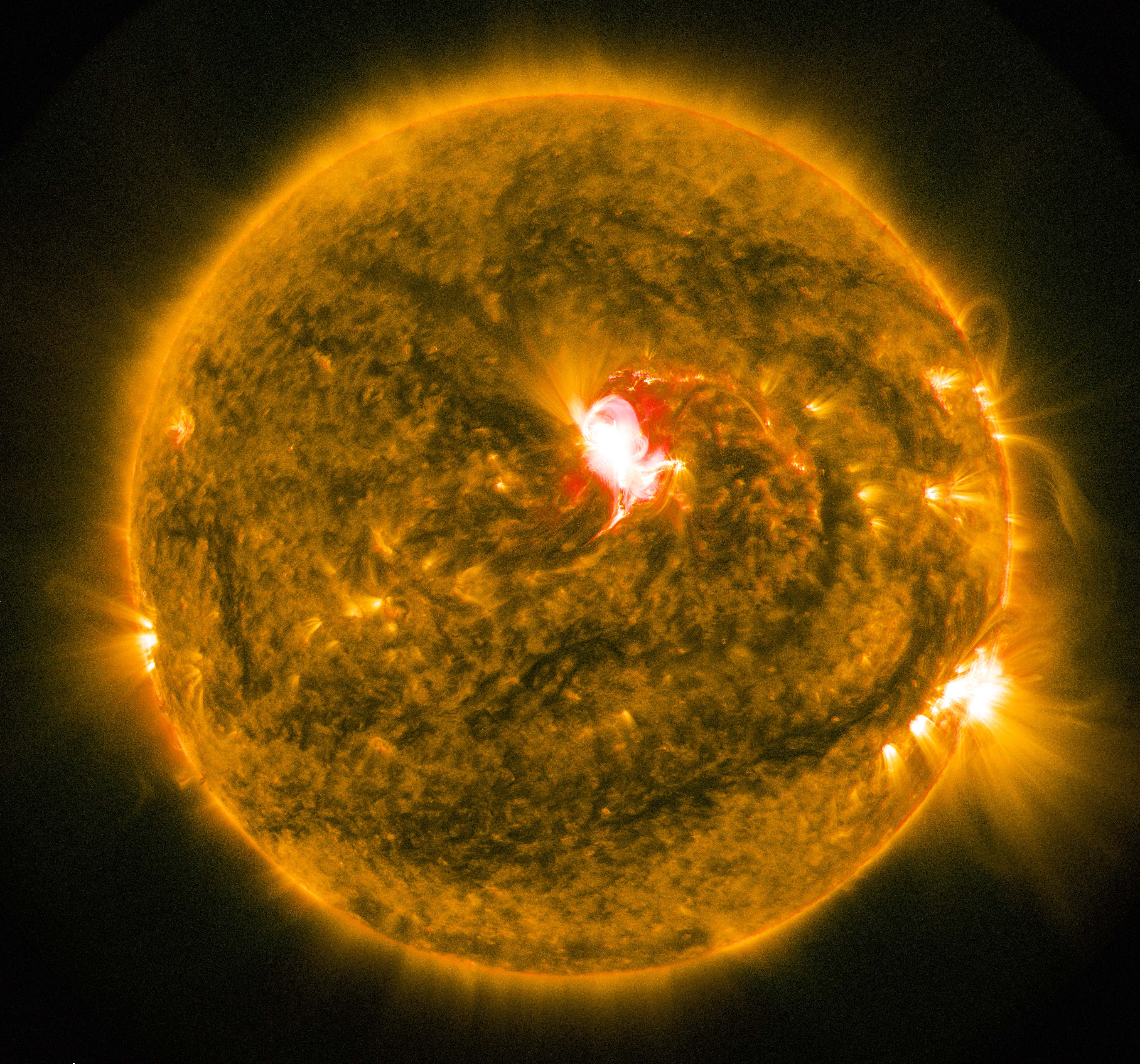 A solar flare observed in June 2015. Source: Author provided