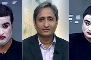 A screengrab from Ravish Kumar's show.