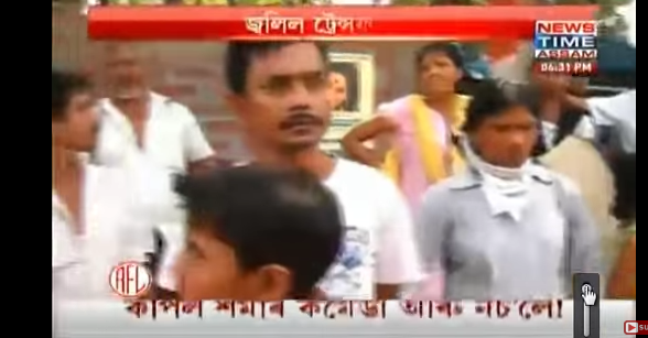 An image of a News Time Assam broadcast from YouTube