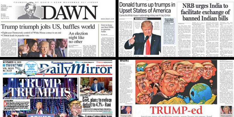How South Asian Media Reported Trump's Election Victory