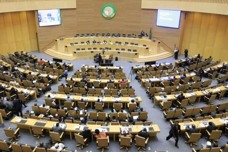 A general view shows the opening session of Heads of States and Government of the African Union on the case of African relationship with the International Criminal Court (ICC) in Ethiopia's capital Addis Ababa, October 11, 2013. Credit: Reuters/Files