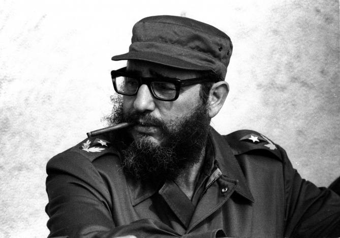 Then Cuban Prime Minister Fidel Castro attends manoeuvres during the 19th anniversary of his and his fellow revolutionaries arrival on the yacht Granma, in Havana in this November 1976 file photo. Credit:Reuters/Prensa Latina/File Photo