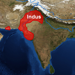 The expanse of the Indus Civilisation. Credit: University of Cambridge
