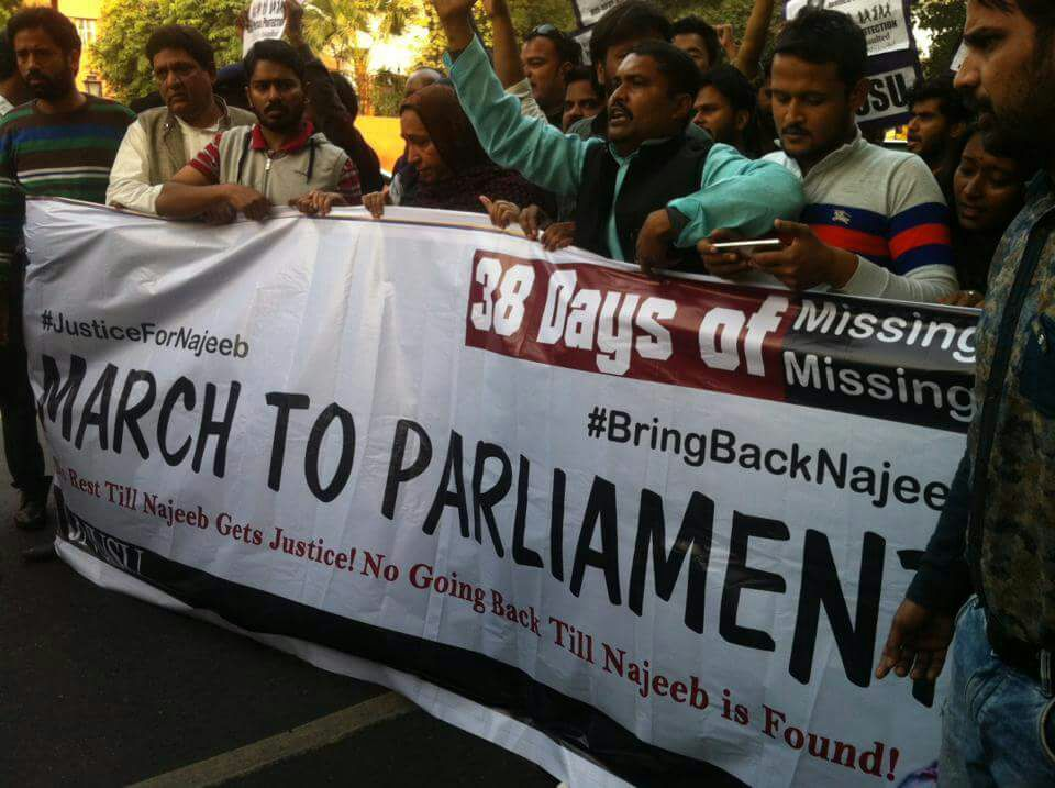 Questions, Protests Continue as JNU's Najeeb Ahmed Still Missing