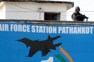 File photo of soldier guarding the Pathankot Air Force based that was attacked last January. Credit: PTI