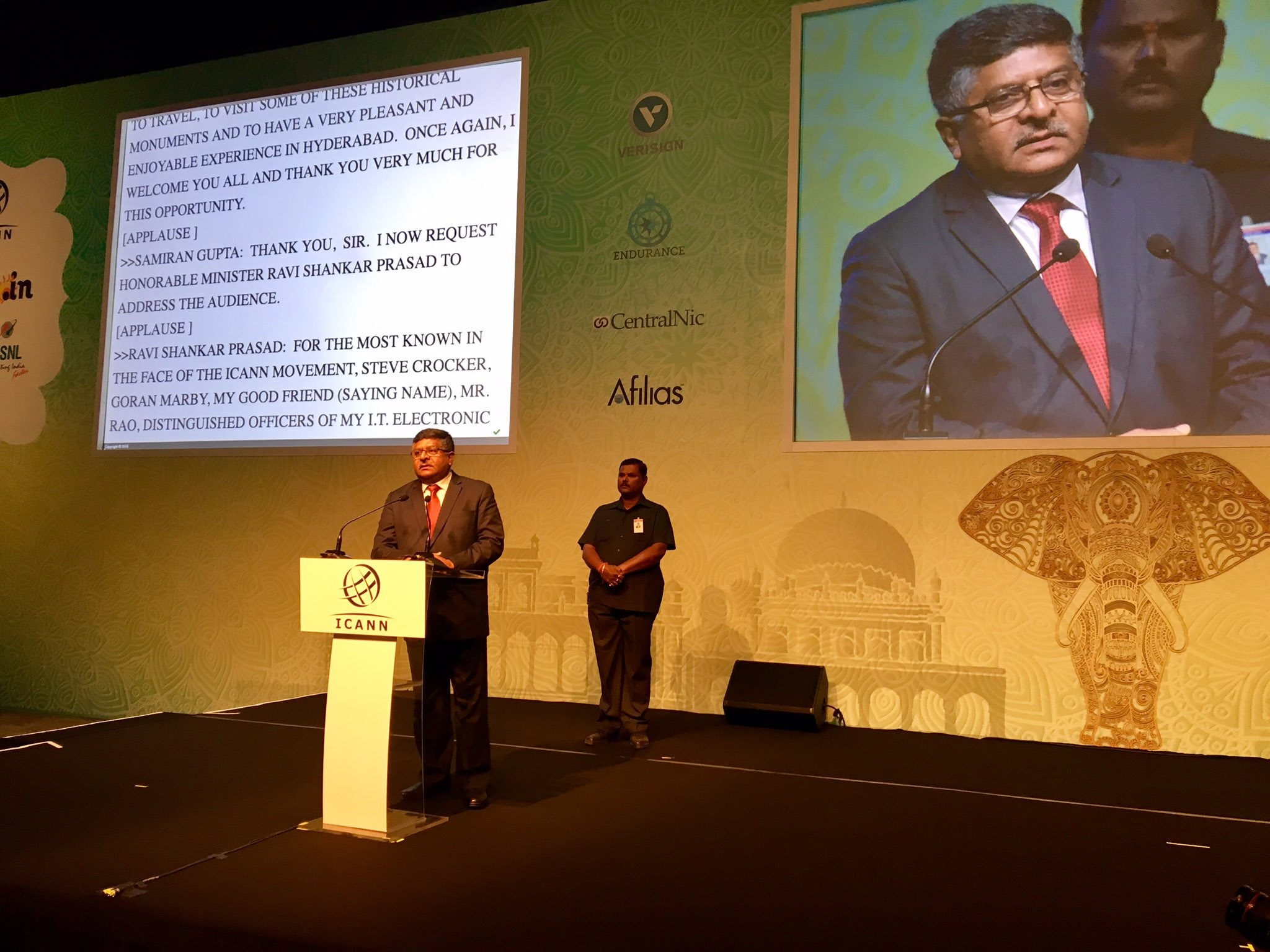 Ravi Shankar Prasad Walks the Multistakeholder Line in Hyderabad, But It Doesn't Extend to Delhi
