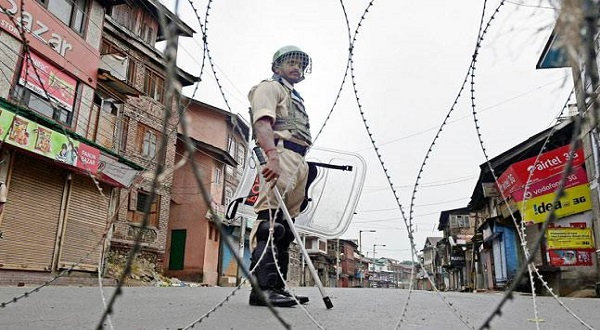 File photo of curfew in Srinagar in August. Credit: PTI