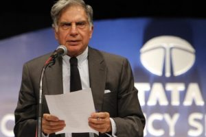 Ratan Tata, chairman of the Tata Group, speaks during the annual general meeting of Tata Consultancy Services in Mumbai