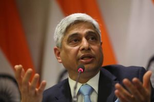 MEA Secretary Vikas Swarup at a presser in New Delhi on thursday. Express Photo by Tashi Tobgyal New Delhi 140116