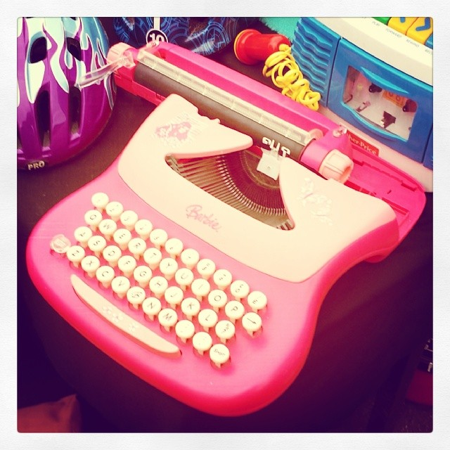 The Barbie typewriter. Credit: uriba/Flickr, CC BY 2.0