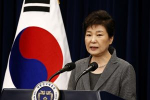 South Korean President Park Geun-Hye speaks during an address to the nation, at the presidential Blue House in Seoul, South Korea, November 29, 2016. Credit: Reuters