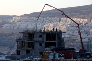 A construction site is seen in the Israeli settlement of Givat Zeev, in the occupied West Bank December 22, 2016. Credit: Reuters