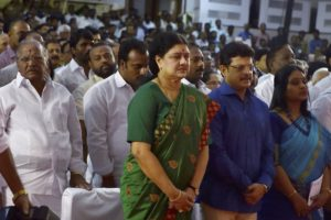 File photo of Sasikala, AIADMK's new general secretary. Credit: PTI