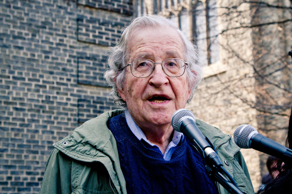 Naom Chomsky. Credit: Andrew Rusk/Flickr CC BY 2.0