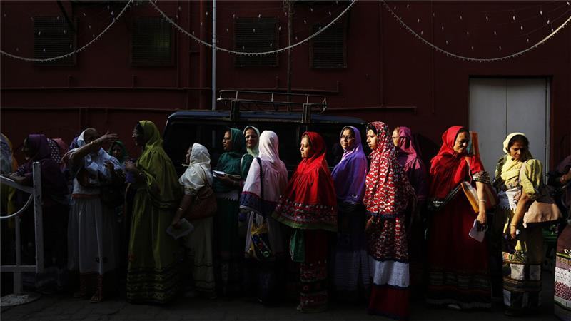 Women from the Dawoodi Bohra community. Credit: Reuters