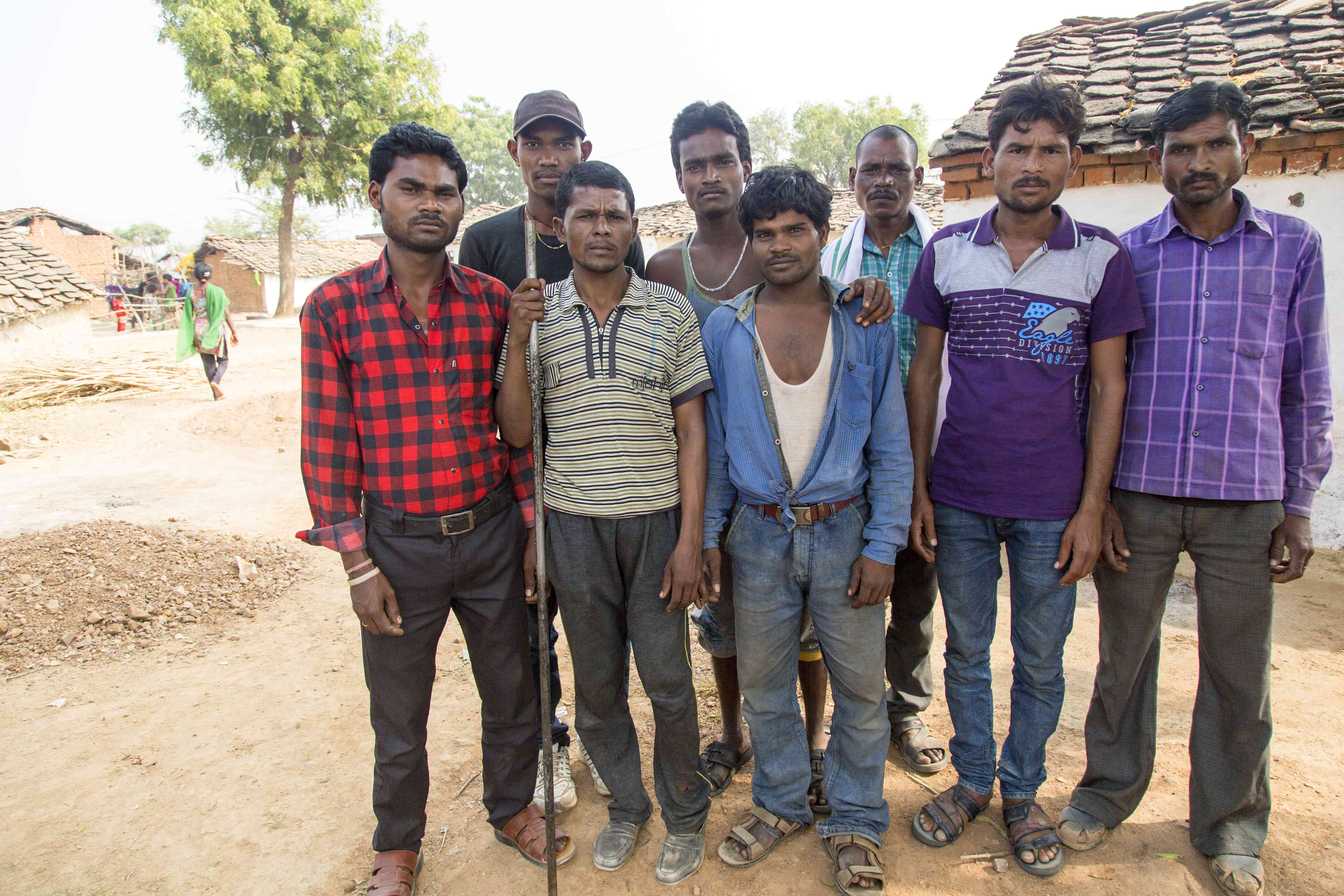 A group of migrant labourers, who work seasonally in various states across North India, recently returned to their village in Tikamgarh district, Madhya Pradesh as they were unable to find work or receive their salaries in the form of cash payments. Credit: Hina Fatima