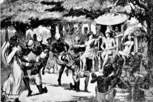 Chandra Gupta Maurya entertains his bride from Babylon. Credit: Wikimedia Commons