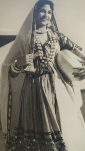 Jaya Jaitly in a Rajasthani peasant woman's ghagra October 7, 1958. Courtesy: CWDS