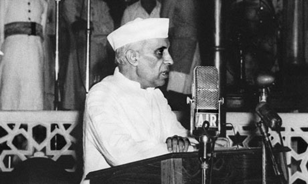 the quest by nehru Jawaharlal nehru 'tryst with destiny' address to the constituent assembly of india in new delhi delivered 14-15 august 1947.
