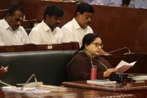 File photo of the late Tamil nadu chief minister J. Jayalalithaa in the state assembly. Credit: IANS