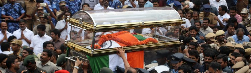 Sobs, Cheers and Love at the Funeral of the Woman They Called Amma