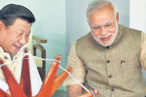 Prime Minister Modi met with Chinese President Xi Jinping, 2015. Credit: PTI