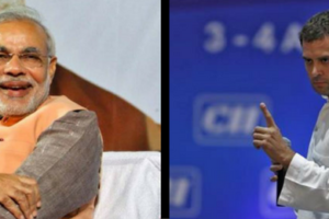 Prime Minister Narendra Modi (L) and Congress vice president Rahul Gandhi. Credit: Reuters