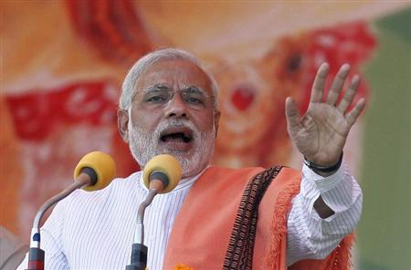 Prime minister Narendra Modi addressed a rally in Deesa in Gujarat recently. Credit: Reuters/Files
