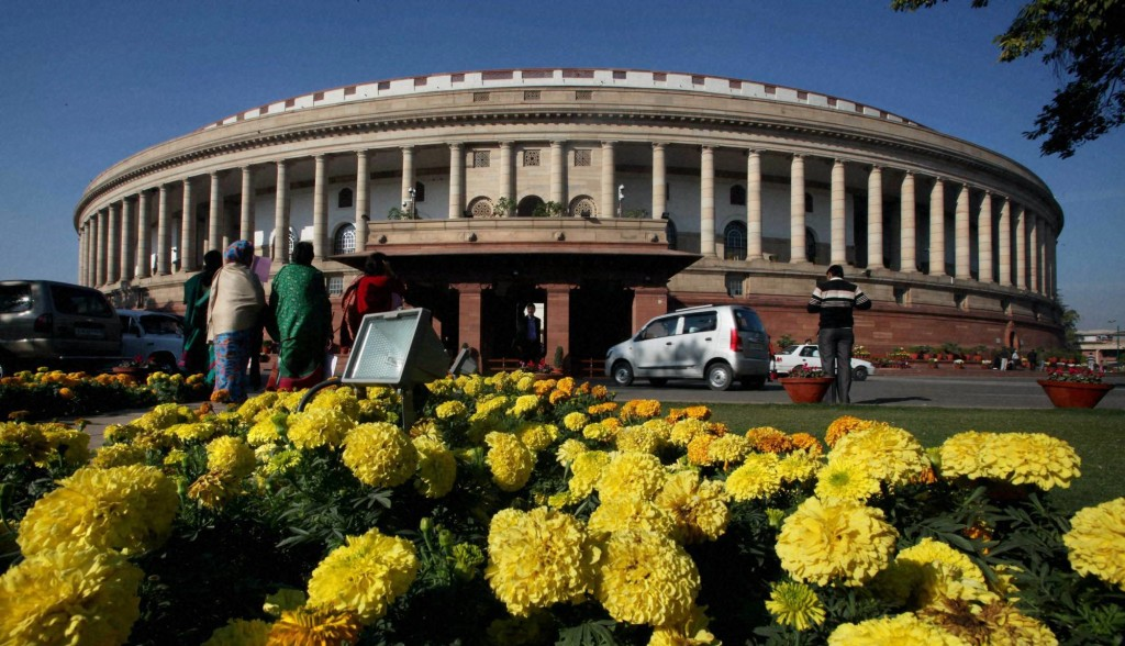 A view of Parliament House in New Delhi. Credit: PTI/Atul Yadav