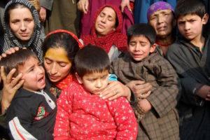 Sajad Ahmad Malik's family. Credit: Mudasir Ahmad