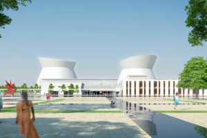 The legislature building Maki planned for Maravati. Source: amaravati.gov.in