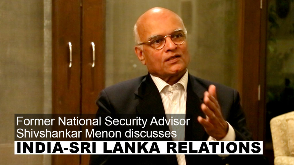 Menon: 'It is Natural that Smaller Neighbours like Lanka Will Play India Against China'