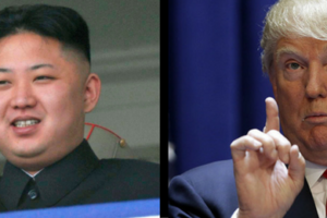 Kim Jong Un (L) and Donald Trump. Credit: Reuters