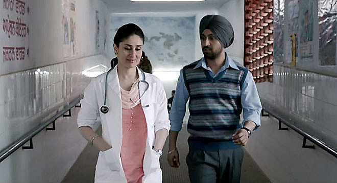 A scene from Udta Punjab featuring Kareena Kapoor and Diljit Dosanjh. Credit: Tanul Thakur.