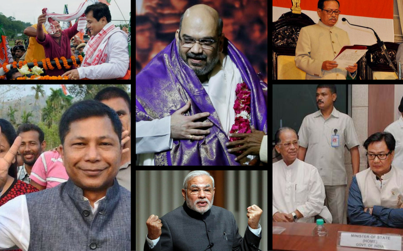 A collage of some of the important players in the politics of Northeast India.