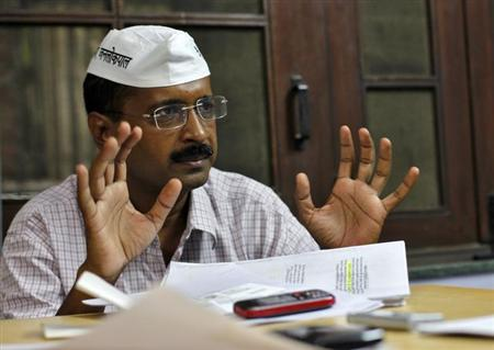 Arvind Kejriwal, a social activist and anti-corruption campaigner, gestures as he speaks during an interview with Reuters in Ghaziabad on the outskirts of New Delhi October 22, 2012.Credit: Mansi/Reuters/Files Thapliyal/Files