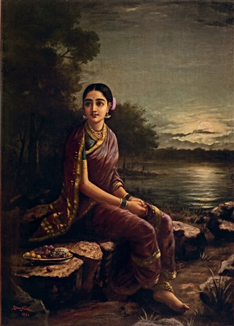 Raja Ravi Varma's Radha in the Moonlight