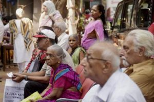 The elderly line up outside a bank in Mumbai. Credit: PTI/Files