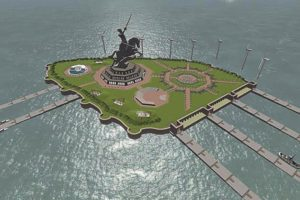 Concept plan of the Shivaji Memorial. Courtesy: Maharashtra government