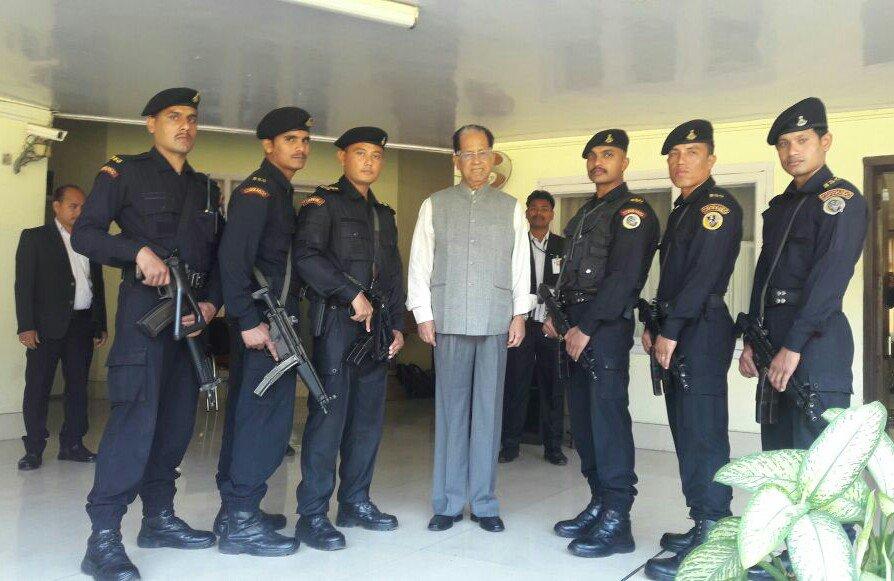 Tarun Gogoi with NSG forces. Credit: Tarun Gogoi/Twitter