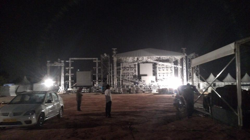 The arena where the David Guetta concert was to be held in Bengaluru. Credit: Sunburn/Facebook