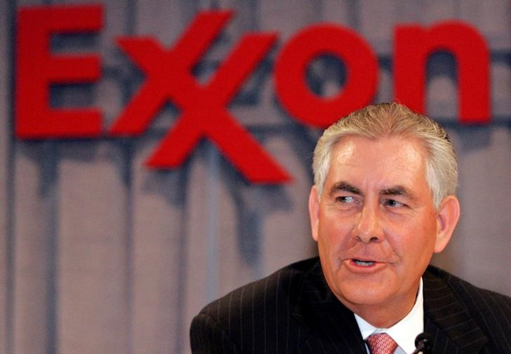 Rex W. Tillerson speaks at a news conference following the Exxon Mobil Corporation Shareholders Meeting in Dallas, Texas, May 28, 2008. Credit: Reuters file photo