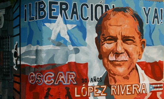 A mural dedicated to Oscar López Rivera. Credit: Reuters