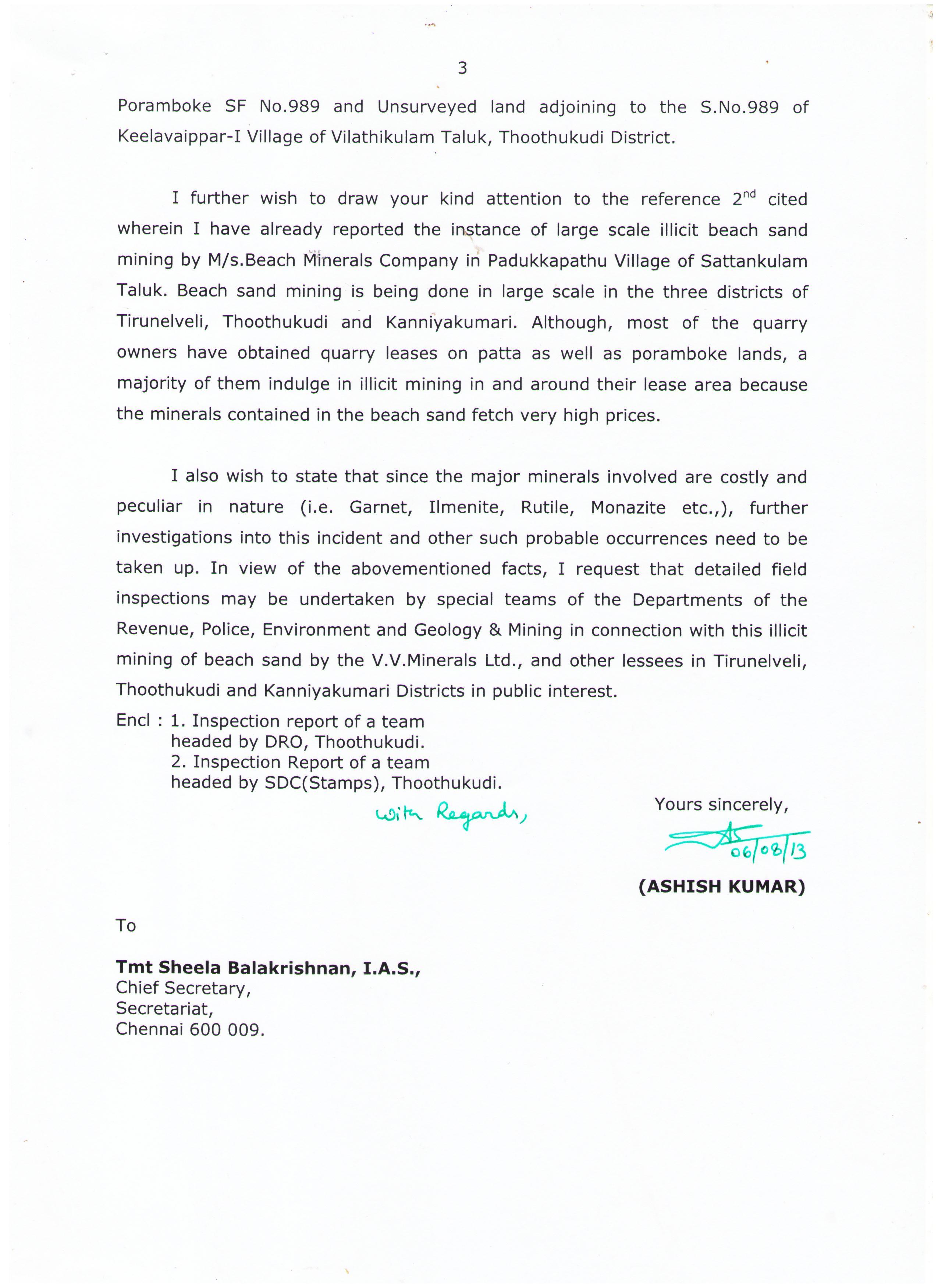 Ashish Kumar letter Pg 03