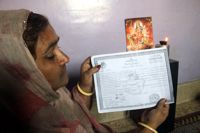Dhan Bai received a certificate from a madrassa saying her daughter had converted to Islam. Credit: Fahim Siddiqi/IPS.